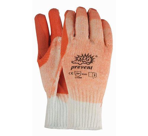 Handschoen Prevent R-903 rode palm met latex coating maat 10/XL