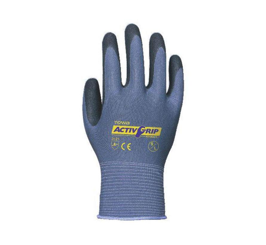 Handschoen TOWA ActivGrip Advance nylon met microfinish nitrile coating maat 9 / L