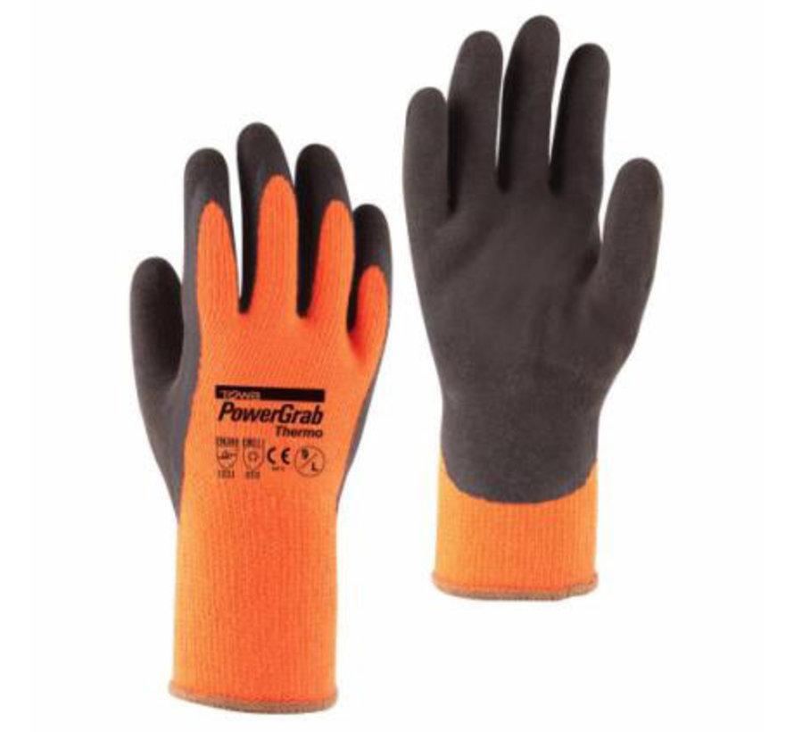 Handschoen TOWA PowerGrab Thermo Acryl Wintervoering met microfinish Latex coating maat 9 / L