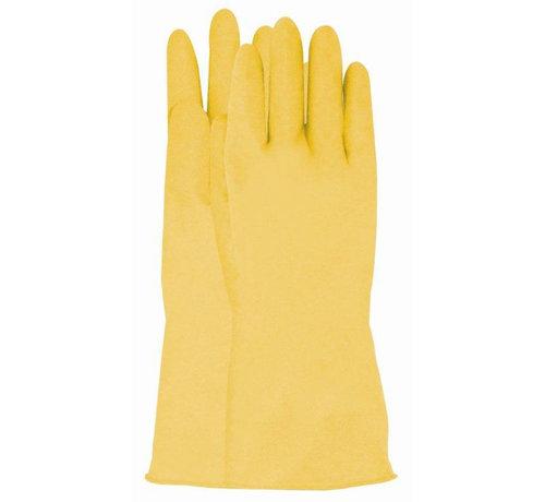 Handschoen huishoud latex geel maat 9 / L