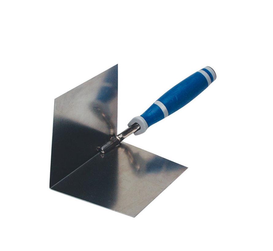 Hoektroffel Super Prof Eco inwendig scherp 100x75 mm RVS met Supersoft-handgreep