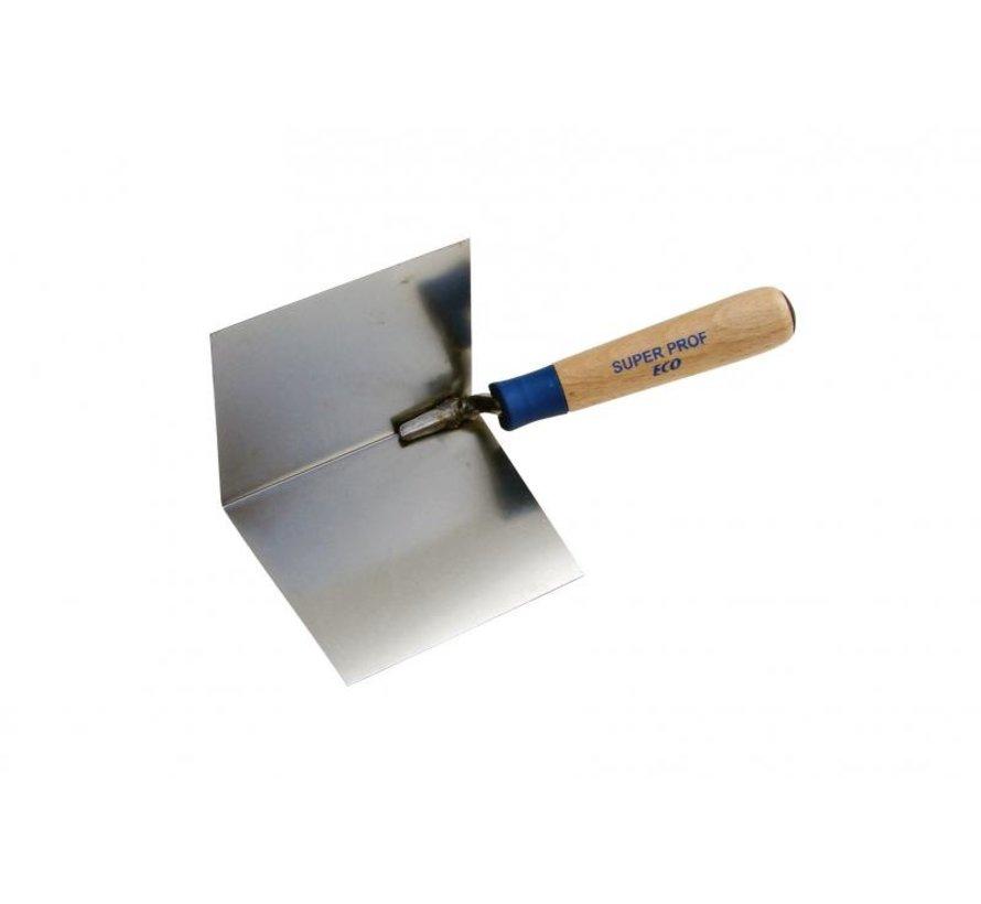 Hoekschop - Super Prof Eco - inwendig scherp 120x100mm RVS met houten greep