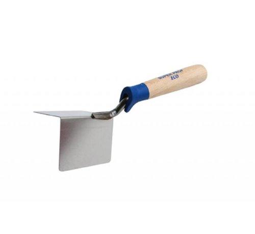 Super Prof Hoekschop - Super Prof Eco - uitwendig scherp 80x25mm RVS met houten greep