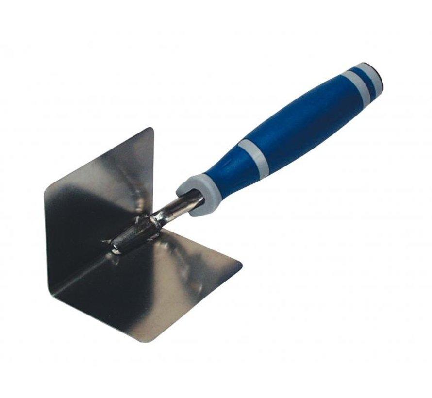 Hoektroffel Super Prof Eco inwendig dubbeltje rond (radius 8 mm) 80x60mm RVS met Supersoft-handgreep