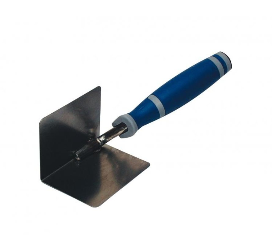 Hoektroffel Super Prof Eco inwendig scherp 80x60 mm RVS met Supersoft-handgreep