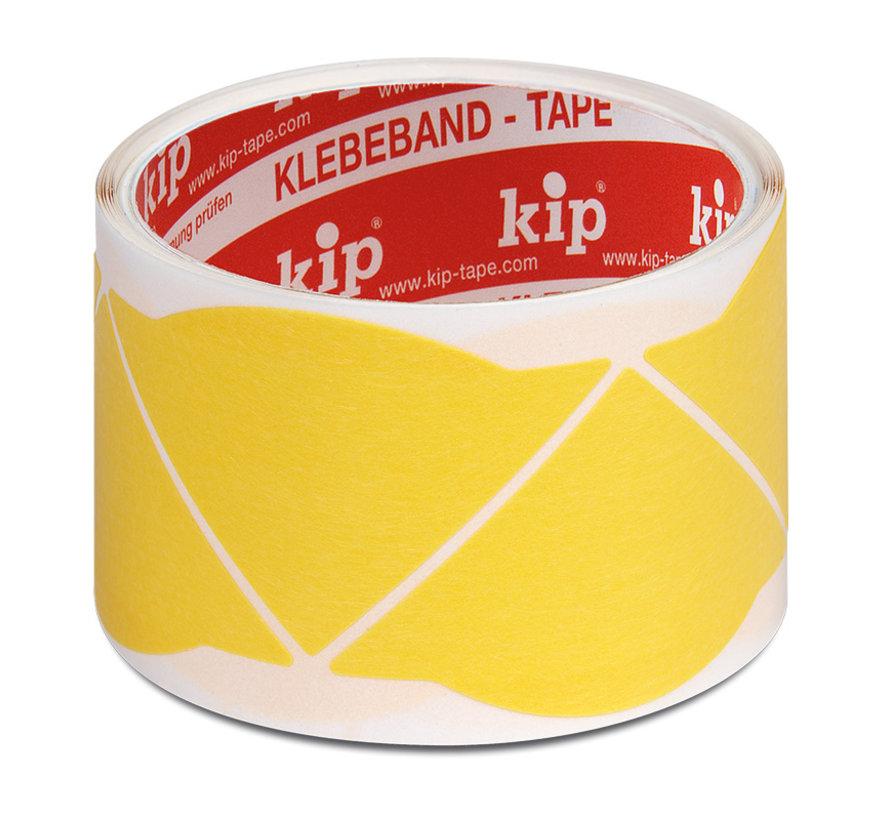 Kip 308 Fineline tape hoeken Washi-Tec 60 stuks op rol Geel