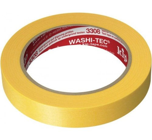 Kip Kip 3308 Fineline Tape Washi-Tec 24mm rol 50m Geel