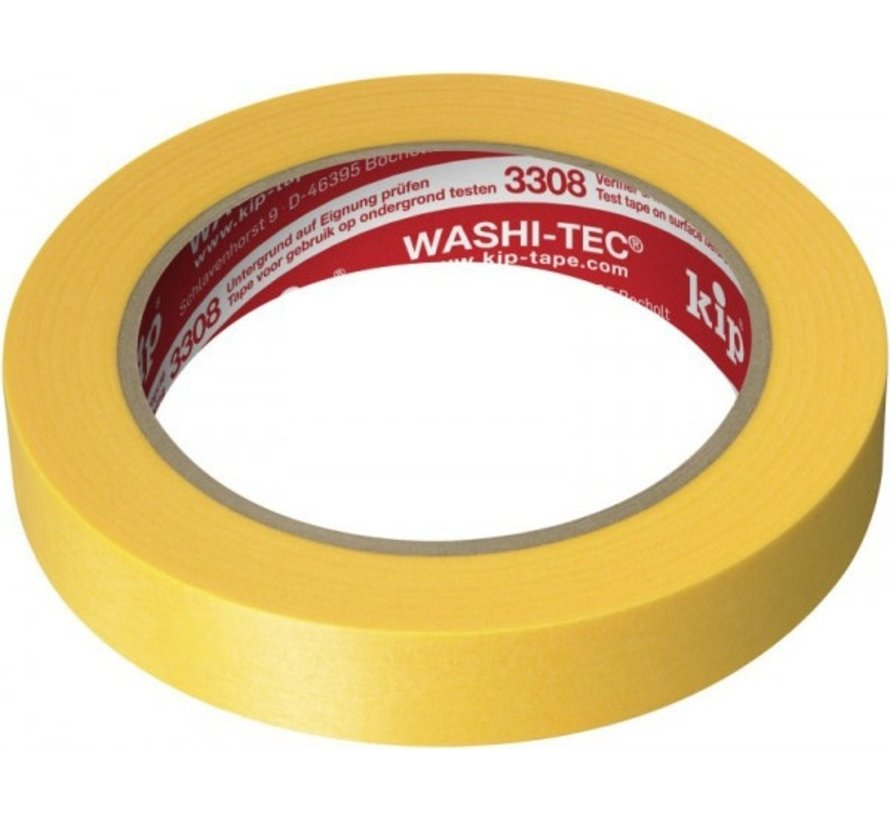 Kip 3308 Fineline Tape Washi-Tec 24mm rol 50m Geel