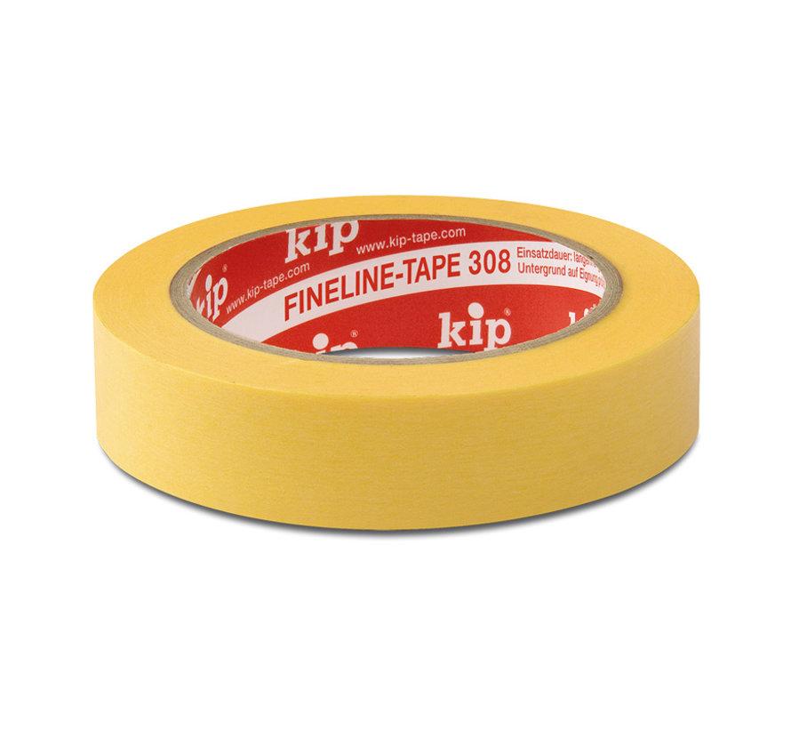 Kip 308 Fineline Tape Washi-Tec 38mm rol 50m Geel