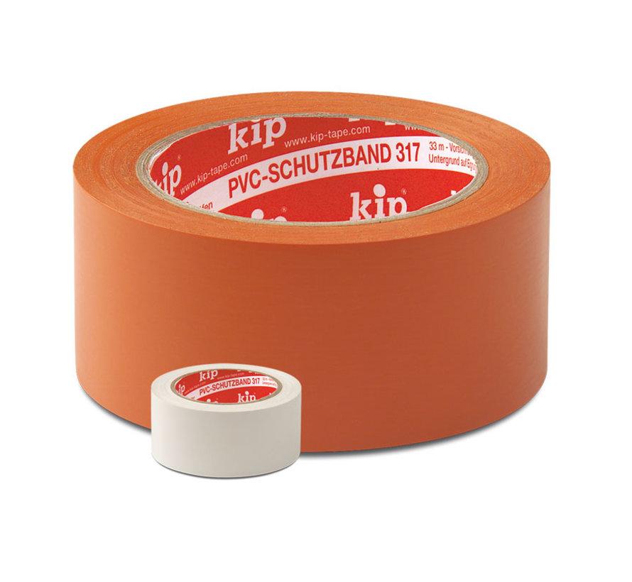 Kip 317 PVC-Masking Tape 50mm rol 33m Oranje