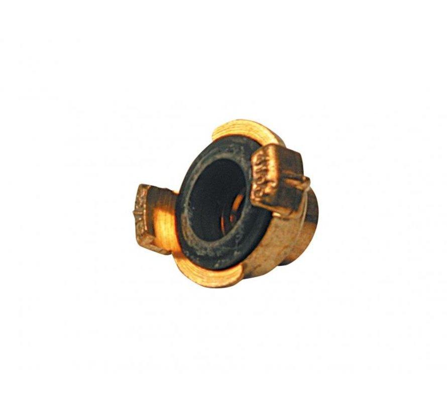 Koppeling met inwendige draad 1 1/2 inch - Super Prof - messing