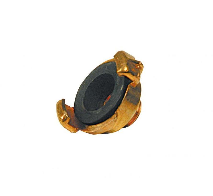 Koppeling met uitwendige draad 1 1/4 inch - Super Prof - messing