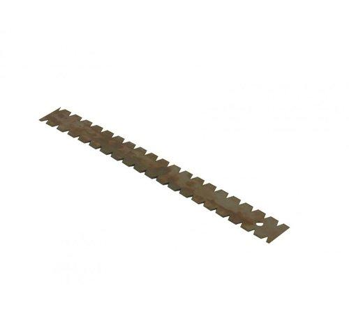 Lijmmes driehoek 9x5x7mm lengte 280mm per 3 stuks