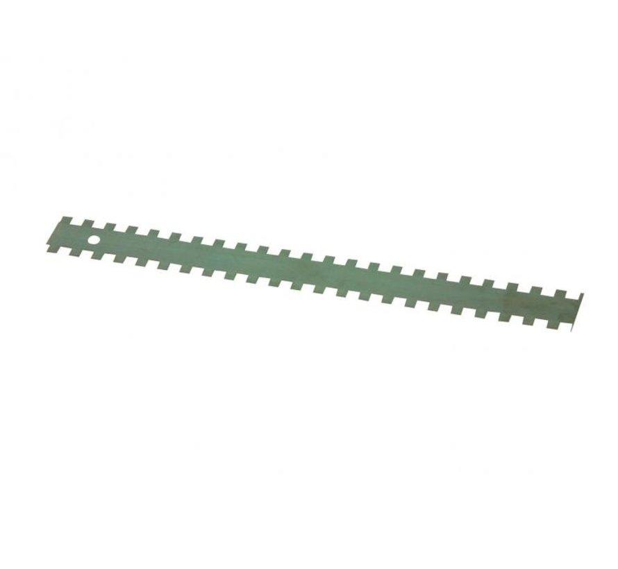 Lijmmessen 10x10x10mm lengte 280mm per 3 stuks