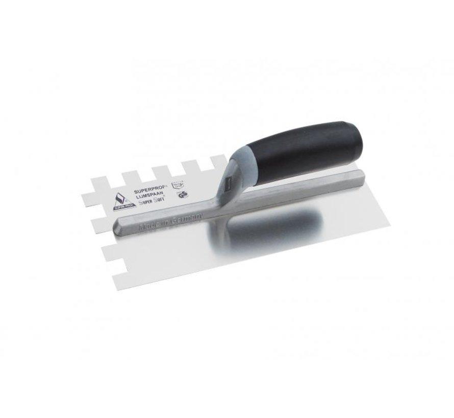 Lijmspaan - Super Prof - 280x120 mm RVS 15x15 mm met Supersoft-handgreep