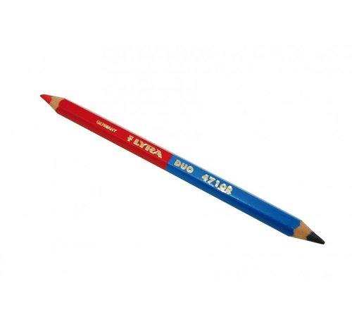 Duo-potlood Lyra 175 mm blauw/rood met stiftdikte 6,25 mm