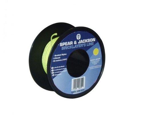 Spear & Jackson Metselkoord Spear & Jackson nylon Fluor Geel rol 50m