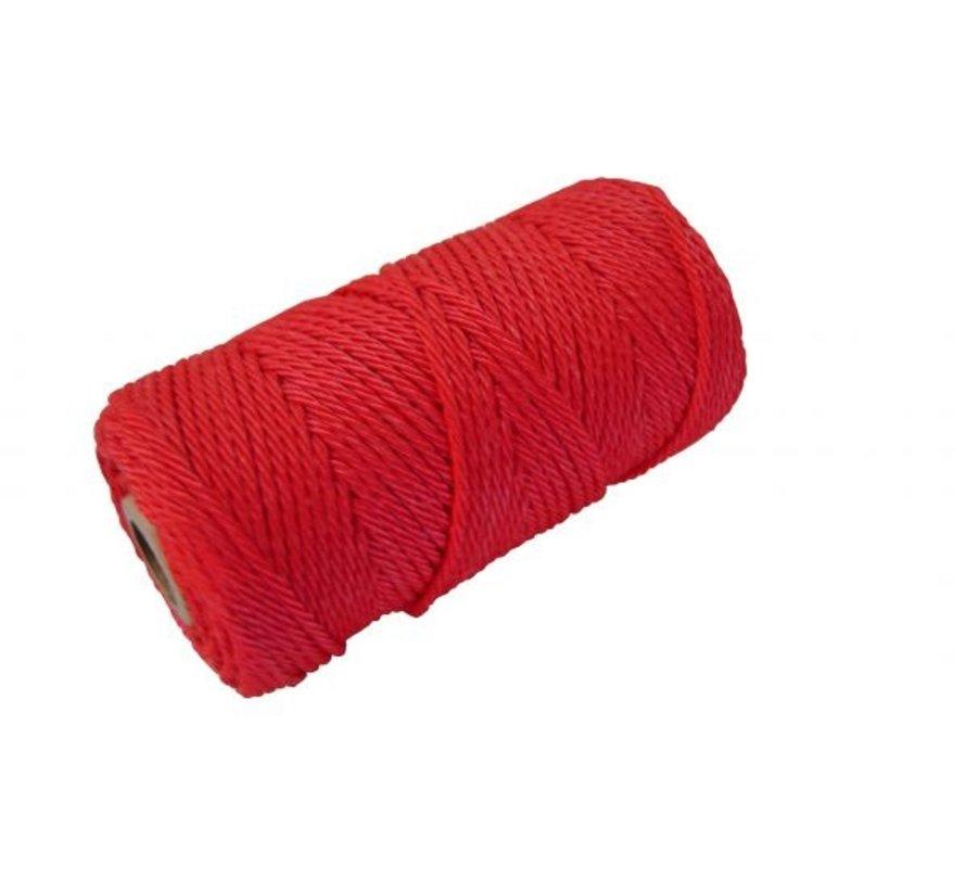 Metselkoord geslagen Ø1mm 4 strengs PP Rood klos 50m