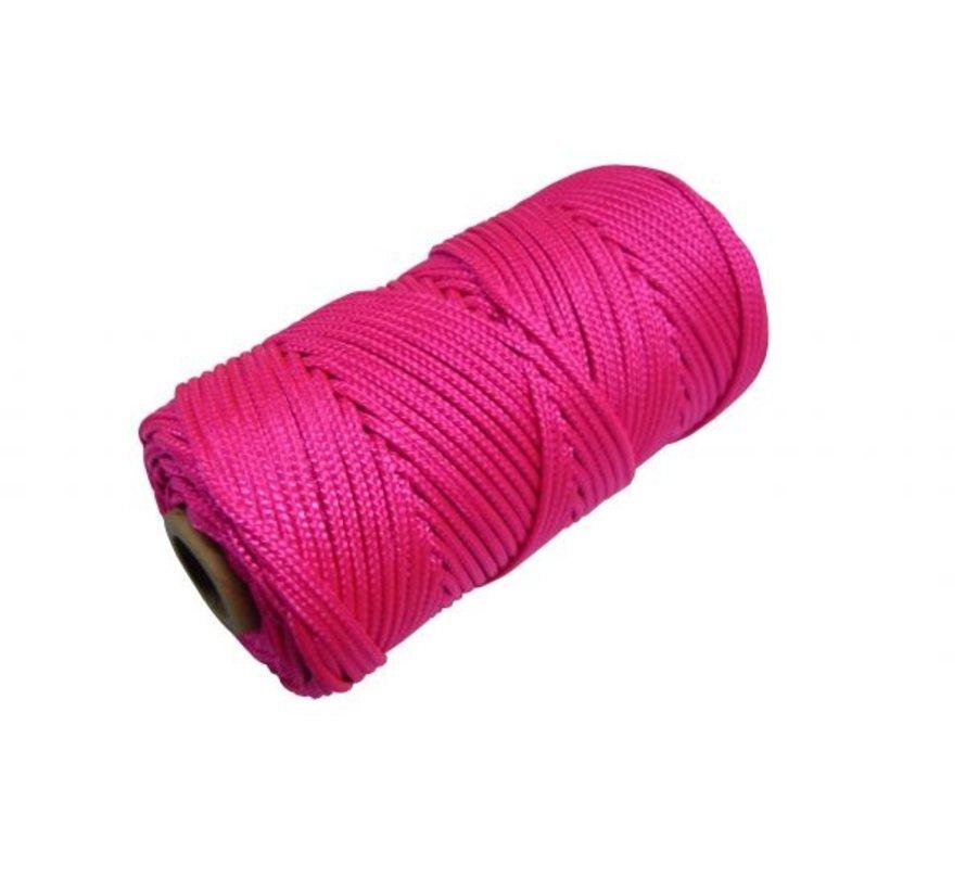 Metselkoord gevlochten Ø1,5mm PA fluor Rose klos 50m