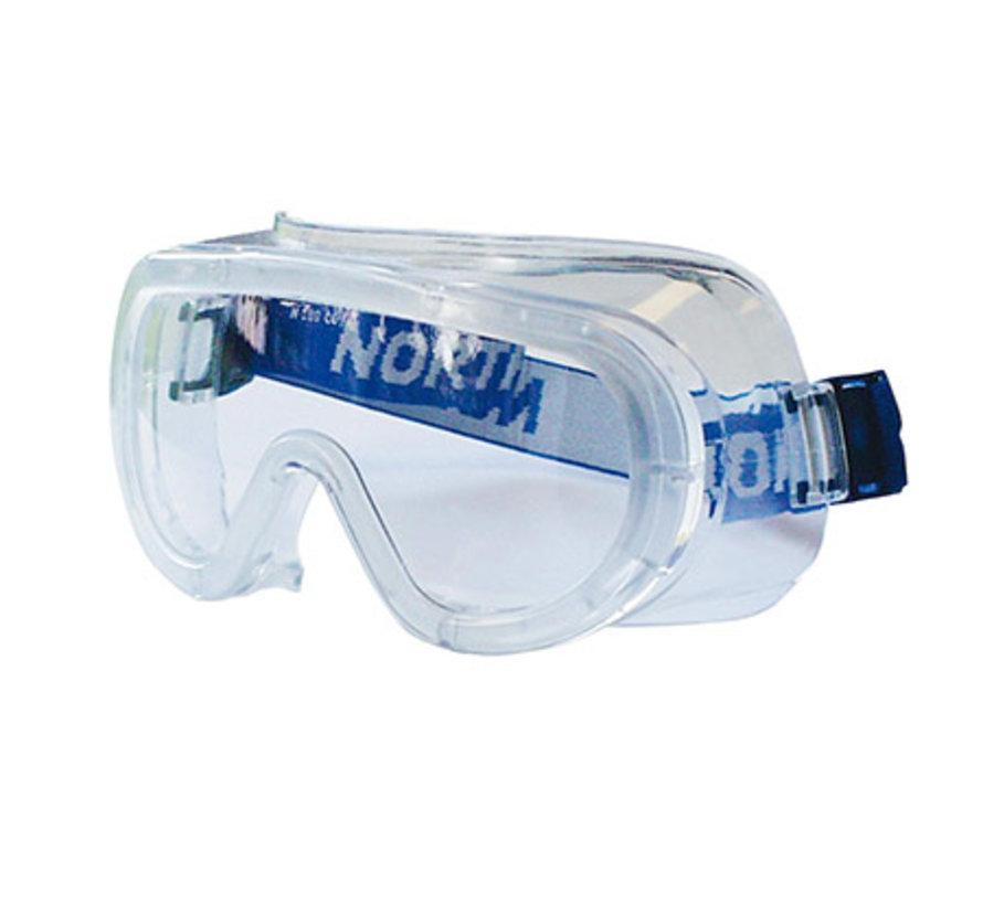 Honeywell LG 20 stof-en slijpbril anticondens met 4 ventilatiegaten