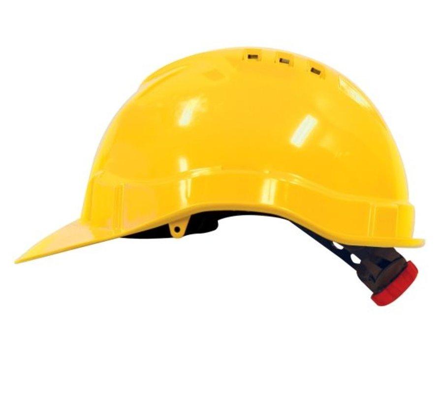 M-Safe veiligheidshelm MH6010 geel draaiknopinstelling 6-punts