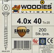Woodies Ultimate Woodies schroeven 4.0 x 40 SHIELD T-20 deeldraad 200 stuks
