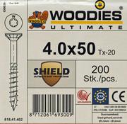 Woodies Ultimate Woodies schroeven 4.0 x 50 SHIELD T-20 deeldraad 200 stuks