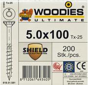 Woodies Ultimate Woodies schroeven 5.0 x 100 SHIELD T-25 deeldraad 200 stuks