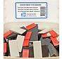GB assortiment doos met kunststof stelwiggen 20x Rood, 20x Grijs en 20x Zwart