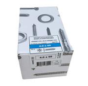 Fis-Fix Fis spaanplaatschroef 4.0x60 VK PZD verzinkt 200 stuks