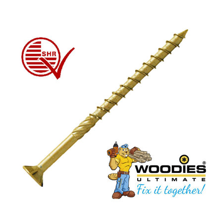 Woodies ultimate shield torx schroeven met deeldraad