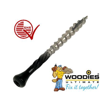 Woodies ultimate potdekselschroeven Blackline torx RVS 410 zwart