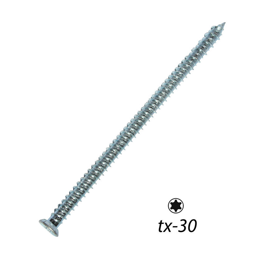 Fis-Fix Betonkozijnschroeven 7.5x112 VK T-30 verzinkt 100 stuks