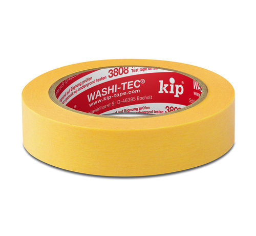 Kip Kip 3808 Fineline Tape Washi-Tec 24mm rol 50m Geel