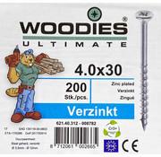 Woodies Ultimate Woodies schroeven 4.0x30 verzinkt PZD 2 deeldraad 200 stuks