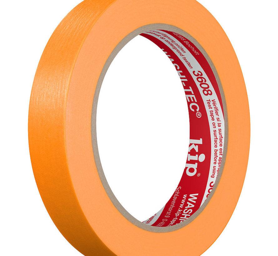 Kip 3608 Fineline Tape Washi-Tec 18mm rol 50m oranje Standaard kwaliteit