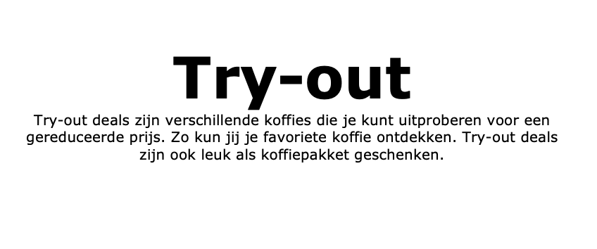 Try-out