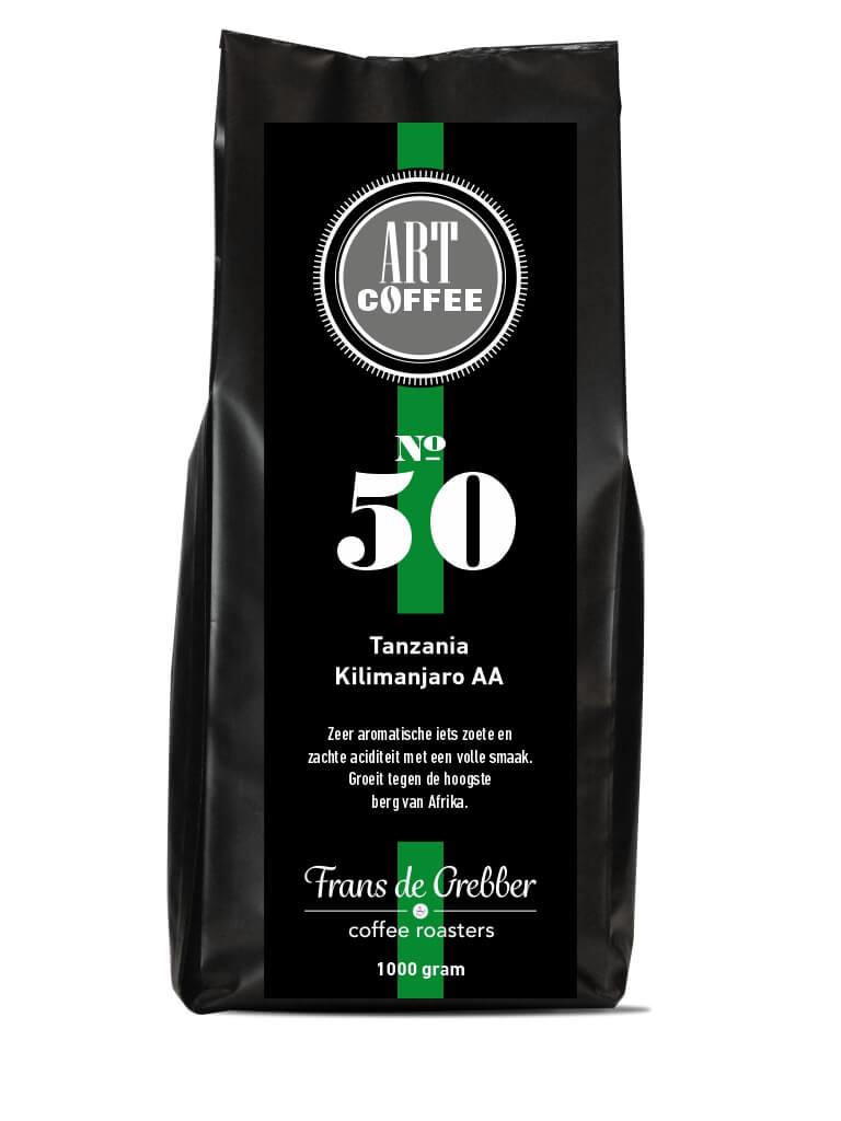 ARTcoffee Tanzania Kilimanjaro AA  50 koffie