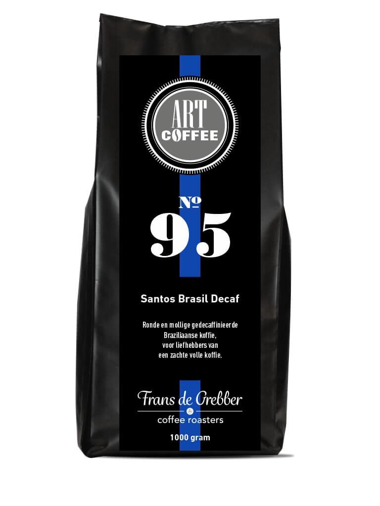 ARTcoffee Santos Brasil Decaf koffie 95