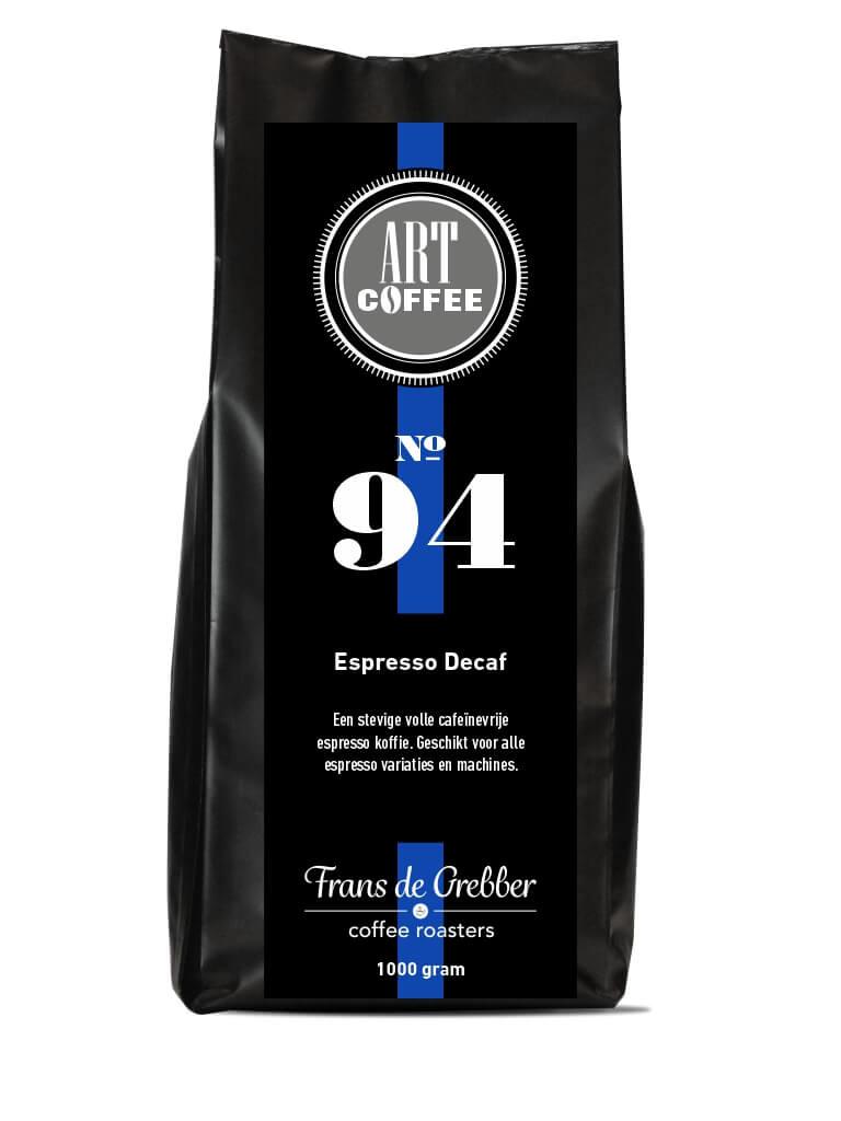 ARTcoffee Espresso Decaf koffie 94