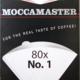 Moccamaster Moccamaster filterpapier Nr.1Moccamaster Filterpapier wit voor het optimaal filteren van de koffie. Milieuvriendelijk op zuurstofbasis gebleekt.  Het filterpapier is geschikt voor alle Cup-one modellen, in het pakje zitten 80 stuks.