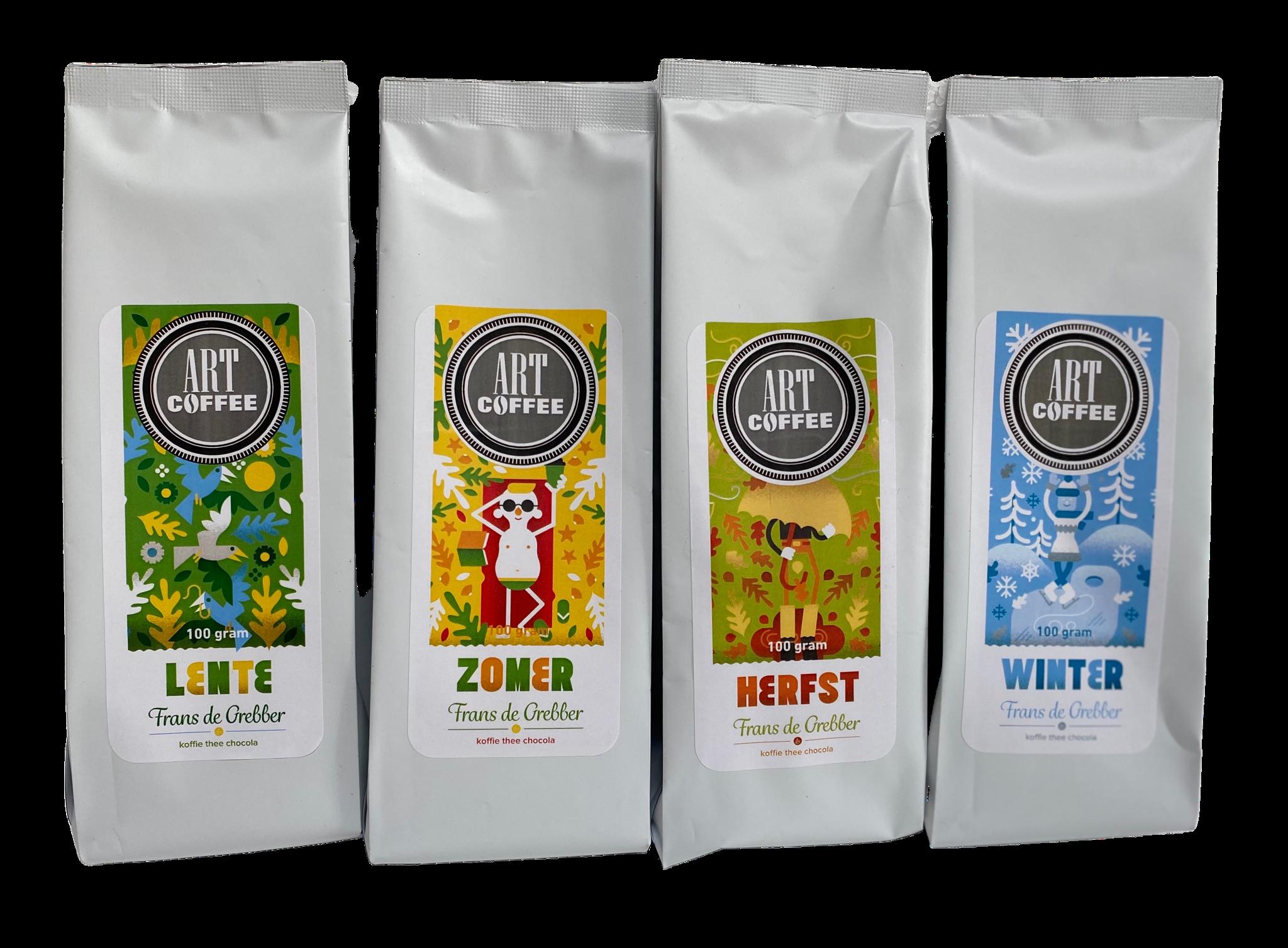 ARTcoffee Vier seizoenen koffie
