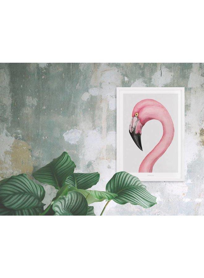 "Poster ""Flamingo"" von typealive"