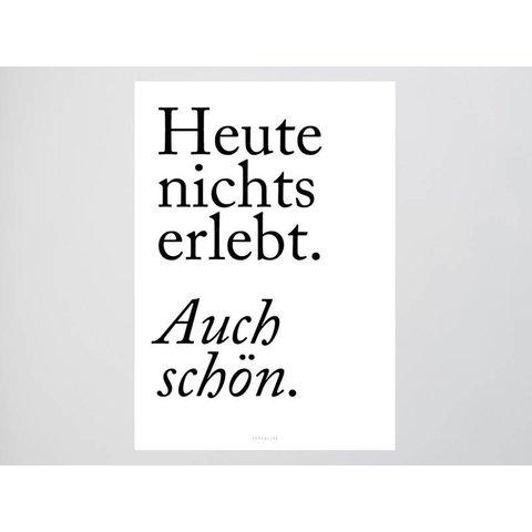 """Poster """"Auch schön"""" von typealive"""