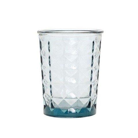 """Teelichthalter """"Facette"""" Blau von Hübsch Interior"""