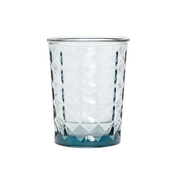 """Hübsch Interior Teelichthalter """"Facette"""" Blau von Hübsch Interior"""
