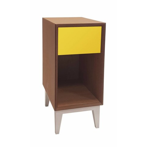 """Design-Nachttisch """"Pix schmal"""" von Ragaba"""