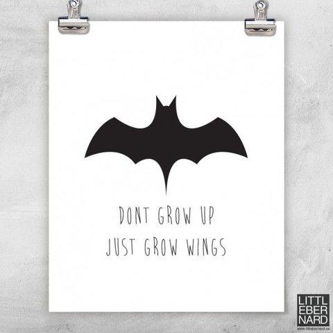 """Poster """"Bat"""" von Little Bernard"""