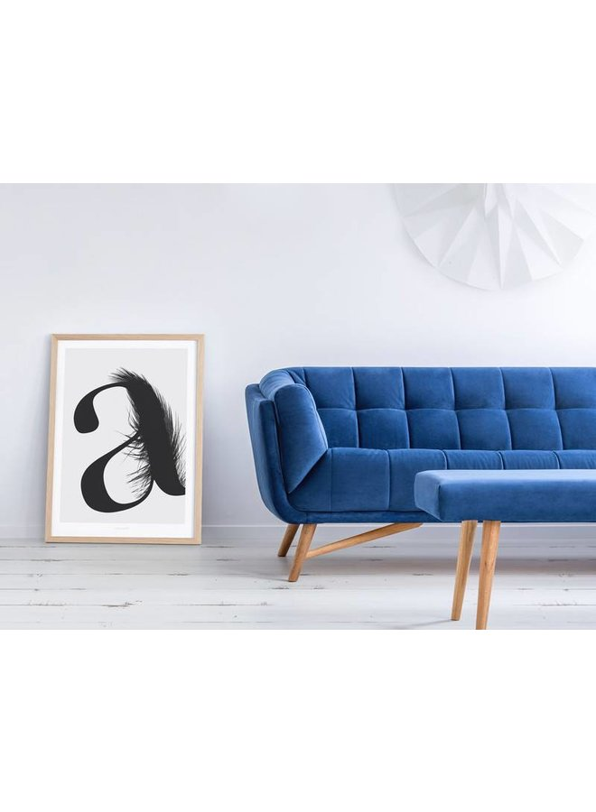 """Poster """"ABC Flying Letters - A"""" von typealive"""
