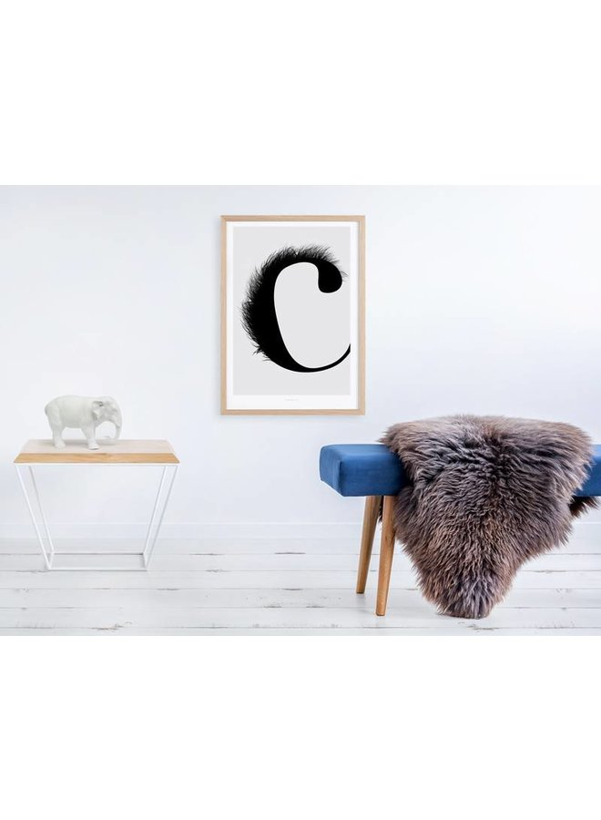 """Poster """"ABC Flying Letters - C"""" von typealive"""